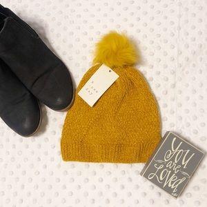 A New Day Mustard Knit Pom Pom Hat